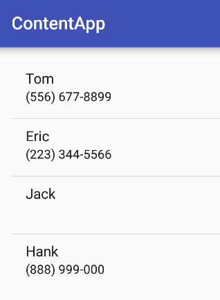 Android高效入門-6.0聯絡人存取權限與ListView實作
