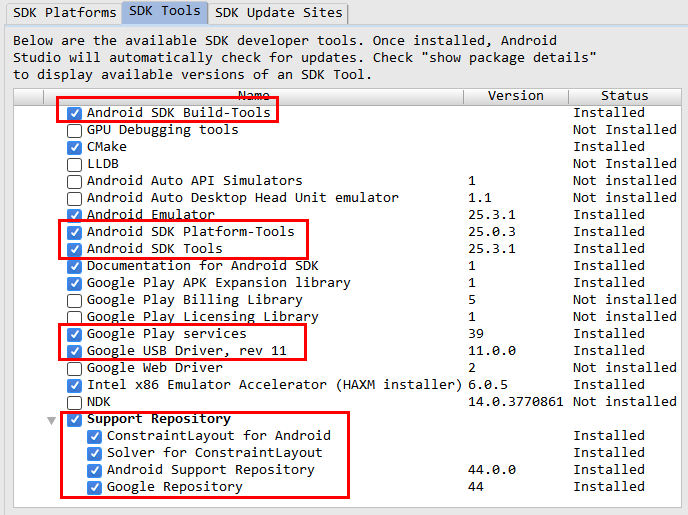 Android SDK,SDK管理工具的使用